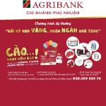 Rộn ràng chương trình tiết kiệm Gửi kỳ hạn vàng – Nhận ngàn quà tặng cùng Agribank Chi nhánh Phú Nhuận