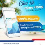 Chuyển tiền 0 đồng với BIDV Bankplus
