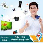 Giảm 12% tối đa 500.000 đồng vào thứ 02 hàng tuần dành cho chủ thẻ Eximbank-JCB khi mua sắm tại Tiki.vn
