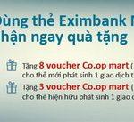 Dùng thẻ Eximbank MasterCard Credit, nhận ngay quà tặng