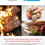 Ưu đãi dành riêng cho chủ thẻ Eximbank tại Nhà hàng Namo Tuscan Grill