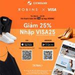 Ưu đãi 25% khi thanh toán thẻ tại App Robins cùng thẻ quốc tế Eximbank - Visa