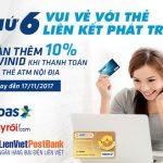 Khuyến mại cho thẻ Liên kết phát triển trên Adayroi.com