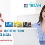 Giảm 12% vào thứ Hai tại Tiki cho chủ thẻ MB JCB Sakura