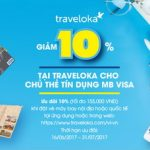 Giảm 10% tại Traveloka cho chủ thẻ tín dụng MB Visa