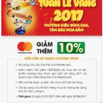 Tuần lễ vàng tại Nguyễn Kim cùng thẻ OCB MasterCard
