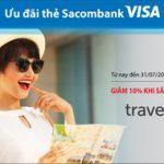 Giảm 10% khi săn vé máy bay trên Traveloka với thẻ Sacombank Visa