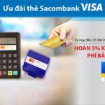 Hoàn 5% khi thanh toán phí bảo hiểm PVI với thẻ Sacombank Visa