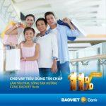 Sống tận hưởng với vay tiêu dùng tín chấp tại BaoViet Bank