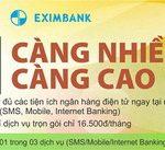 Sử dụng càng nhiều, Ưu đãi càng cao dành cho khách hàng Eximbank chuyển sang combo tài khoản thanh toán
