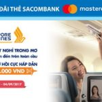 Giá vé khứ hồi Singapore Airlines chỉ từ 3.200.000 VND với thẻ Sacombank