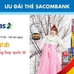 Mua vé Vietjet Air giá 0 đồng với thẻ Sacombank