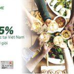 Ưu đãi hoàn tiền 5% cho chủ thẻ doanh nghiệp VPBiz khi chi tiêu ẩm thực