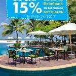 Ưu đãi 15% dành cho chủ thẻ Eximbank khi đặt phòng tại mytour.vn