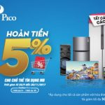 Hoàn tiền 5% tại Pico cho chủ thẻ tín dụng MB