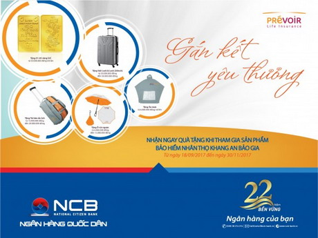Ký hợp đồng bảo hiểm nhận vàng SJC dành cho khách hàng NCB