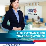 Dịch vụ thân thiện – Trải nghiệm tối ưu cùng BIDV
