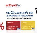 Giảm 10% cho chủ thẻ Visa DongA Bank khi thanh toán tại website Adayroi