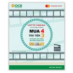 Mua 04 trả tiền 03 vé xem phim Lotte Cinema cùng OCB