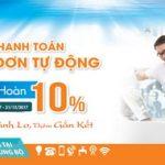 Thanh toán hóa đơn hoàn 10% dành cho khách hàng Sacombank
