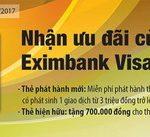 Nhận ưu đãi cùng thẻ Eximbank Visa Platinum
