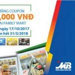 Ưu đãi coupon 50,000 VND tại Family mart cho chủ thẻ MB JCB Sakura