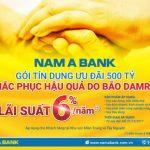 Nam A Bank dành 500 tỷ đồng cho vay ưu đãi khắc phục hậu quả bão