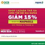 Shop Lazada thả ga cùng thẻ nội địa Napas dành cho khách hàng OCB