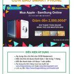 Mua Apple - Samsung online giảm đến 2.000.000 khi thanh toán online bằng thẻ OCB Mastercard