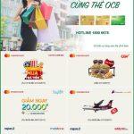 Tận hưởng ưu đãi cùng thẻ OCB