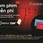 Xem phim và nhận Combo bắp nước miễn phí tại CGV, BHD với thẻ nội địa Agribank