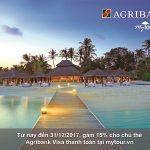 Ưu đãi lớn mùa lễ hội cùng thẻ Agribank Visa