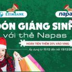 Đón giáng sinh với thẻ Napas tại Adayroi.com cùng Eximbank