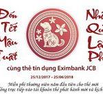 Đón tết Mậu Tuất nhận quà tặng Lộc Phát cùng thẻ tín dụng Eximbank JCB