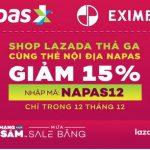 Shop Lazada thả ga cùng thẻ nội địa Napas của Eximbank