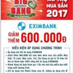 Ưu đãi dành cho chủ thẻ tín dụng Eximbank tại Nguyễn Kim