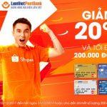 Ngày hội mua sắm với thẻ LienVietPostBank MasterCard trên Shopee