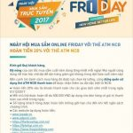 Ngày hội mua sắm Online Friday 2017 với thẻ ATM NCB