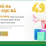 Hoàn tiền đến 49.99% khi mua sắm cùng thẻ tín dụng quốc tế OCB