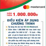 Nguyễn Kim giảm thêm 1.000.000 khi thanh toán bằng thẻ OCB Mastercard