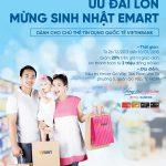 Mừng sinh nhật Emart, chủ thẻ Tín dụng quốc tế VietinBank nhận nhiều ưu đãi
