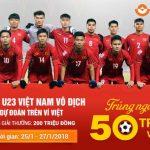 Cùng cổ vũ U23 Việt Nam vô địch, dự đoán trên Ví Việt có cơ hội trúng đến 200 triệu đồng