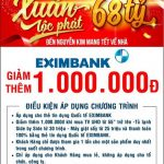 Ưu đãi giảm giá 1.000.000 đồng dành cho chủ thẻ tín dụng Eximbank tại siêu thị Nguyễn Kim