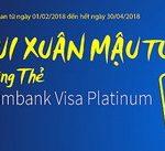 Vui Xuân Mậu Tuất cùng thẻ tín dụng Eximbank Visa Platinum
