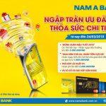 Hàng loạt ưu đãi dành cho chủ thẻ tín dụng Nam A Bank Mastercard