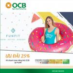 Giảm 25% trên tổng hóa đơn khi thanh toán bằng thẻ OCB tại Funfit