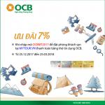 Giảm 7% khi đặt phòng khách sạn tại Mytour.vn cùng OCB