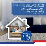 Nhận ngay bảo hiểm trị giá 500 triệu đồng khi vay nhu cầu nhà tại BIDV