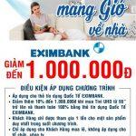 """Ưu đãi giảm giá 1.000.000 đồng dành cho chủ thẻ tín dụng Eximbank mua Tivi UHD từ 55"""" trở lên tại siêu thị Nguyễn Kim"""