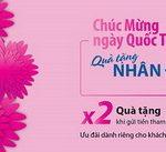 Quà tặng nhân đôi, Niềm vui ngập tràn dành riêng cho khách hàng nữ gửi tiền trong 3 ngày 07, 08, 09/03 tại Eximbank